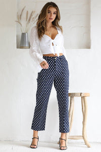 Gaia Spot Pants - Navy