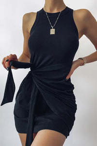 Tau Tie Dress - Black