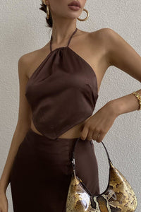 Carmen Slip Skirt - Chocolate