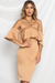 Captive Midi Dress - Caramel