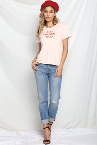 Am I French Yet Tee - Pink/Red