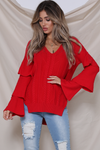 CLOUD NINE SWEATER - RASPBERRY
