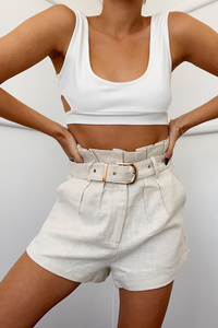 BELLE PAPERBAG SHORTS-SAND