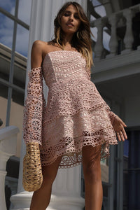 Butterfly Mini Dress - Baby Pink