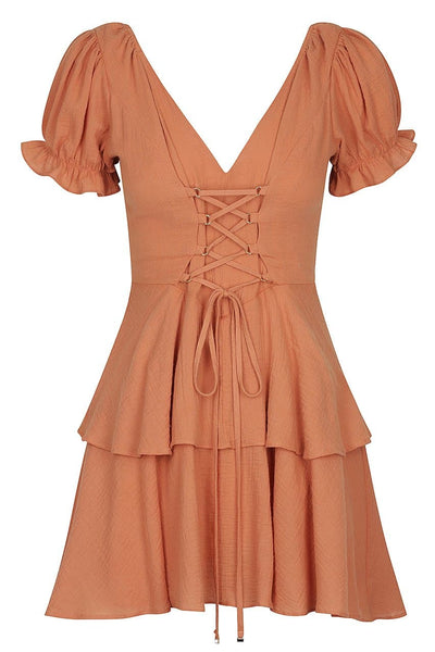 Sabina Dress-Rust