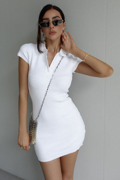 Adella Dress - White
