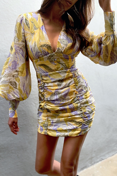Paradise Dress - Lilac/Yellow