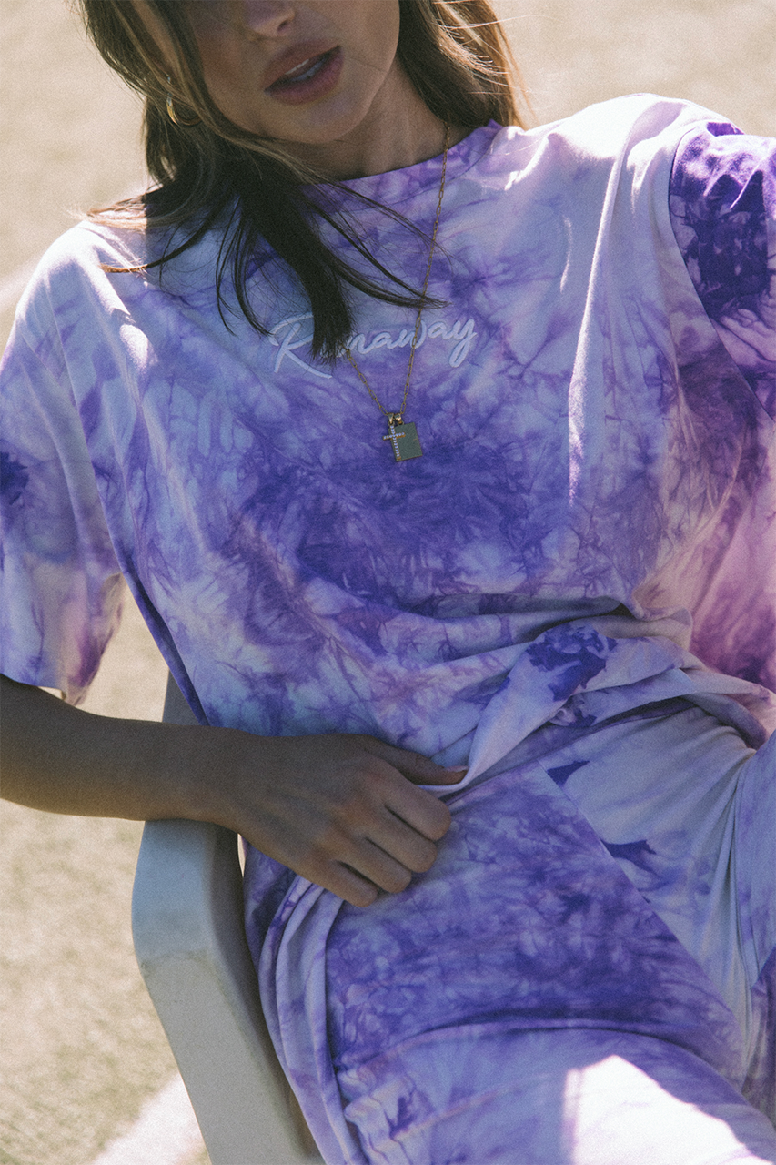 Free Spirit T-Shirt - Purple Tie Dye