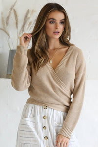 Charlie Wrap Cardigan - Taupe