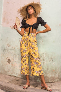 Bonita Pants - Yellow Print