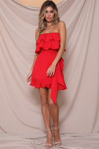 While It'S Hot Mini Dress - Red
