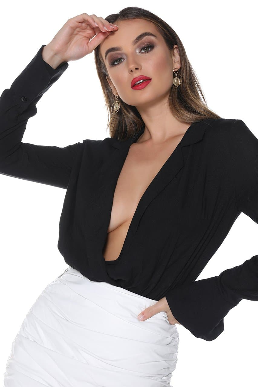 HAILEY BODYSUIT - BLACK