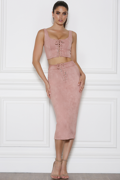 Buckley Midi Skirt - Rose