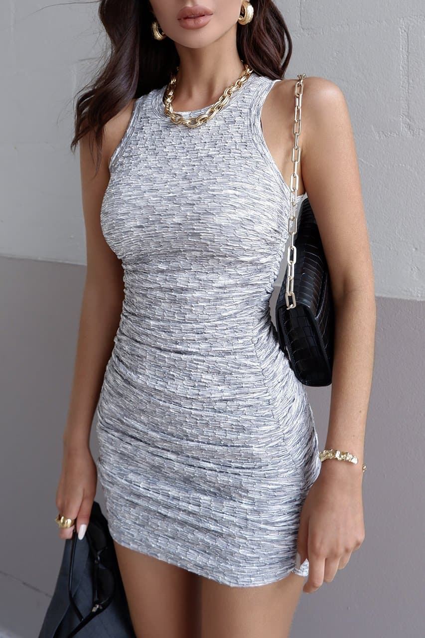 Stefani Dress - Grey Marle