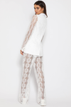 PRIMAVERA TROUSERS - WHITE LACE