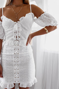 PICNIC CORSET DRESS - WHITE