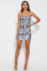SHANTA MINI DRESS - BLUE