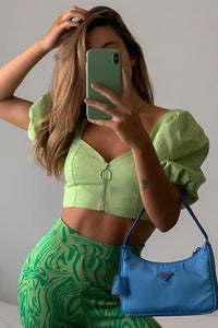 Yulia Top - Retro Green