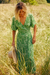 Wheatgrass Maxi Dress-Green