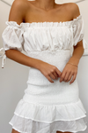 May Shirred Dress - Ivory