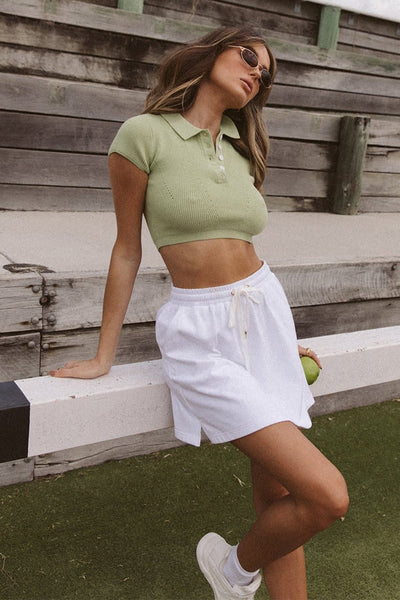 Adella Knit Top - Pistachio
