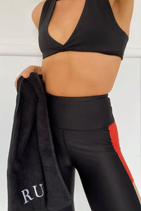 Runaway Gym Towel - Black