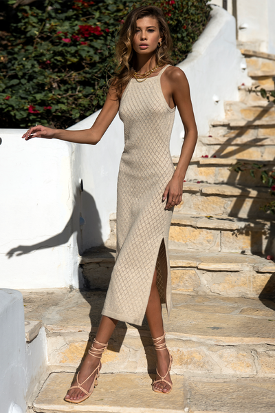 Barbados Dress - Hessian