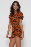 Aubrey Mini Dress - Rust