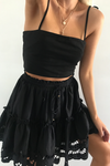 ALANNAH MINI SKIRT - BLACK