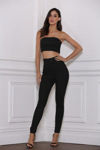 Rhythm Suede Tube Top - Black