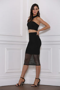 Baker Mesh Skirt - Black