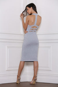 Revenge Midi Dress- Grey Marle