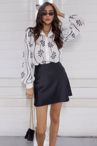 Elise Blouse - White/Black