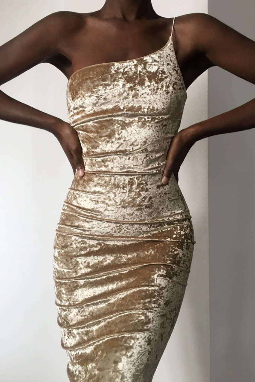 Carlita Dress - Gold