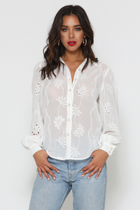 Elise Blouse - White