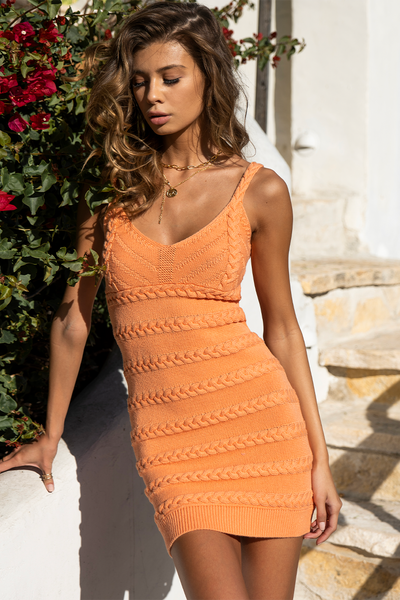 Dukes Mini Dress - Nectarine