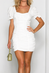 ELDORIS DRESS-WHITE