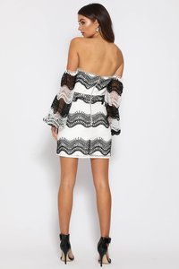 Mistress Dress - Black & White Lace