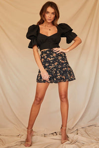 Marigold Mini Skirt-Black