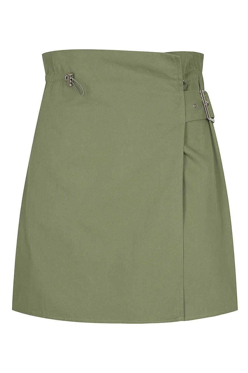 PAPERBAG MINI SKIRT-KHAKI