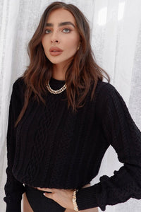 Janie Knit Jumper - Black