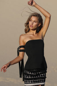 SEASIDE TOP -  BLACK