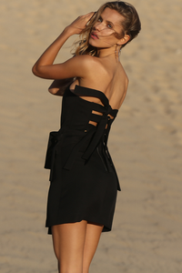 SEASIDE MINI DRESS - BLACK