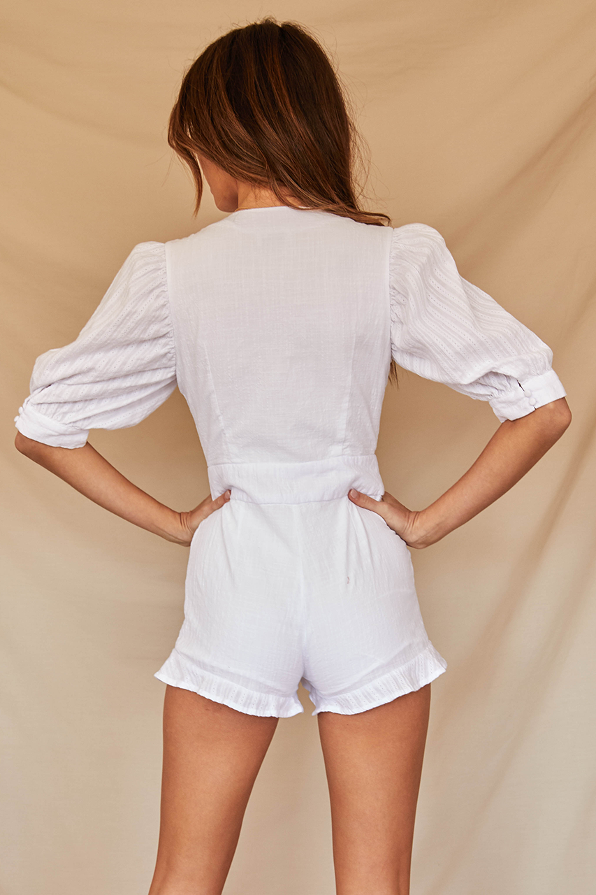 Madison Playsuit-White