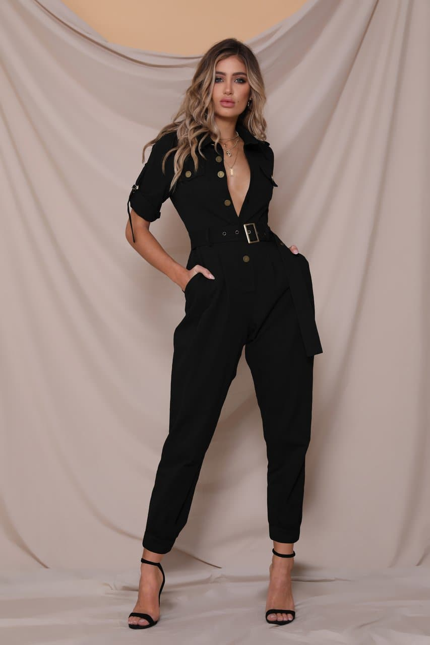Work It Boiler Suit - Black