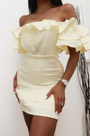 Shirr Me Dress - Lemon