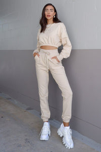 Tenley Track Pants - Sand