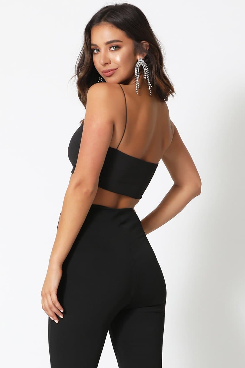 Kitana Crop Top -Black