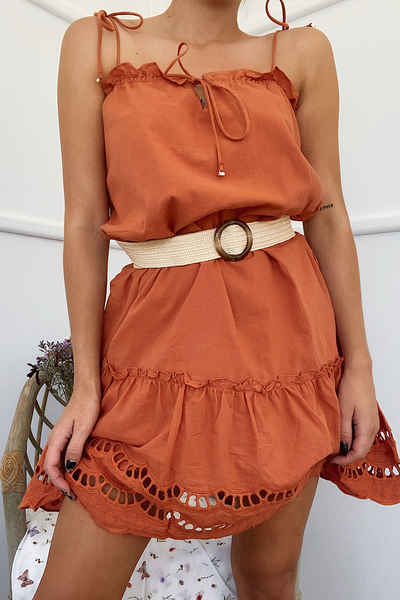 Alannah Dress - Rust