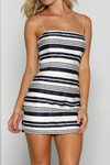 Jezabel Mini Dress - Navy Stripe